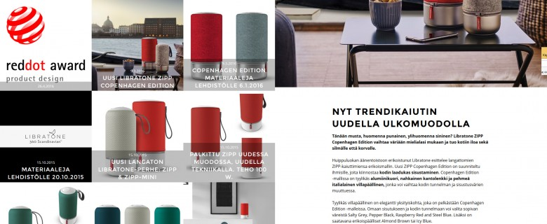 Libratone press -sivusto
