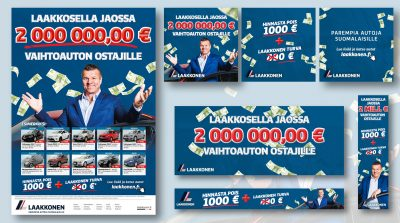 Laakkonen: Jaossa 2 000 000,00 € vaihtoauton ostajille