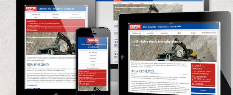 Teboil: Heavy Duty -sivusto