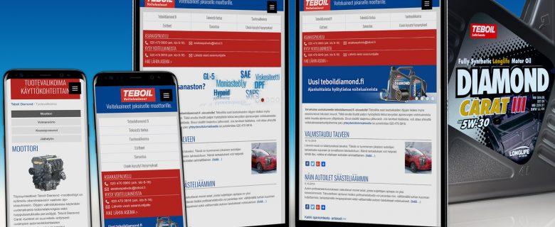 Teboil: teboildiamond.fi -sivustouudistus