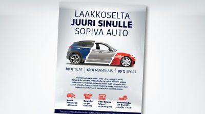Laakkonen: Laakkoselta juuri sinulle sopiva auto, lehtimainonta
