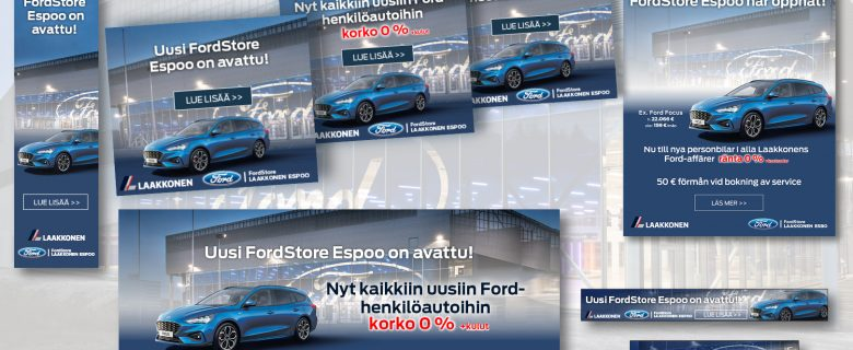 Laakkonen: FordStore Espoon verkkobannerit