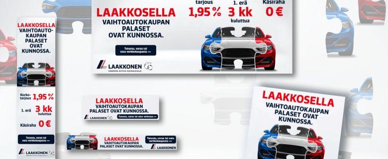 Laakkonen: Vaihtoautokaupan palaset kunnossa, verkkomainonta