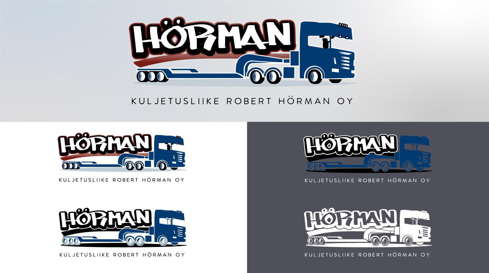 Kuljetusliike Robert Hörman Oy: logosuunnittelu