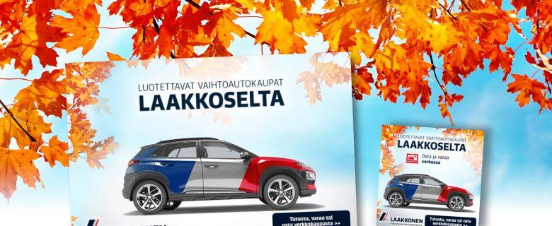 Laakkonen: Luotettavat vaihtoautokaupat Laakkoselta, Web